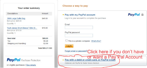 Pay Pal Payment Window