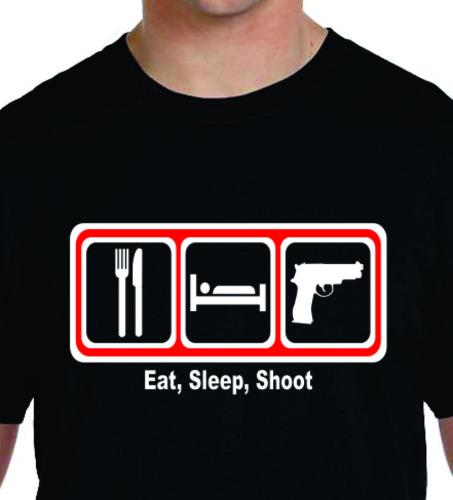 Eat Sleep Shoot 2 Color