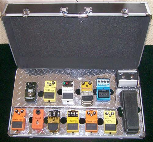 Metal Pedal Case : Heavy metal pedal board case combo p r custom audio