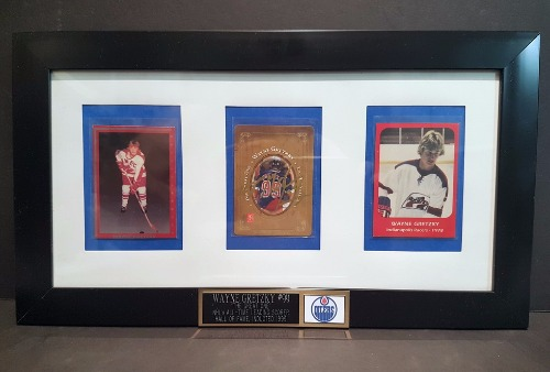 Gretzky Cards With Signed Card Framed