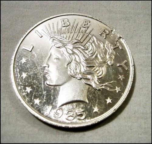 1985 Usa American Silver Eagle 1oz Brg Amusements