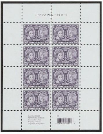 Canada new issue $2 sheet MNH Queen Elizabeth Diamond Jubilee.jpeg