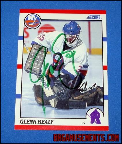 "GLENN HEALY Autographed 1990-91 Score ""Rookie"" New York"