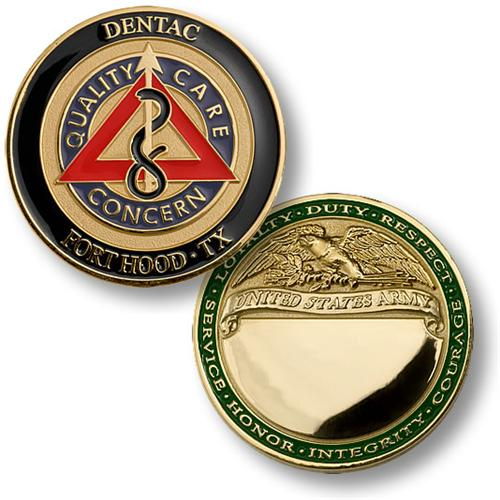 Commerce (TX) United States  city pictures gallery : United States Army Dentac, Fort Hood Texas Challenge Coin ...