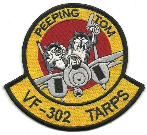 Us Navy Fighter Squadron Vf 302 Tarps Peeping Tomcat F 14