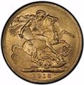 India 1918-I Gold Sovereign PCGS MS 65 2