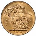 Australia 1914-P Gold Sovereign PCGS MS63 2