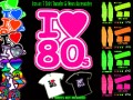 I Love the 80s Iron on T Shirt Transfer & Neon Accessories