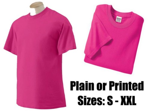 Pink Mens / Unisex T Shirt S-XXL - retrofancydress.com