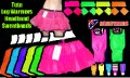 80s Neon Fancy Dress Tutu, Leg Warmers, Sweatbands & Headband 2.jpeg