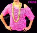 Mesh Net Vest Top in Neon Pink