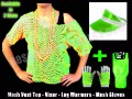 Neon Green Mesh Vest Deal with Sun Visor, Leg Warmers & Gloves.jpeg