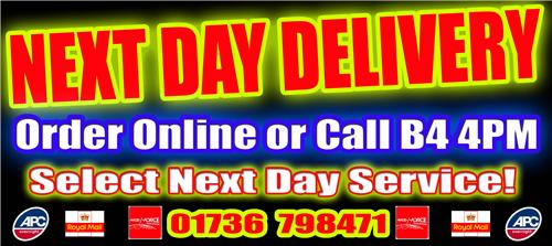 Next Day Delivery Option Available