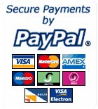 Secure Payments by Paypal - Most Credit & Debit Cards accepted.