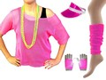 Neon Pink Mesh Top, Leg Warmers, Sun Visor & Short Mesh Gloves.jpeg