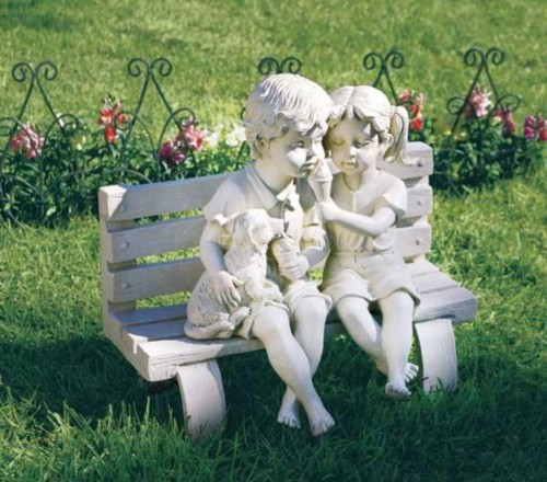 Boy Girl Garden Statues,outdoor Kitchens San Antonio Tx,flower Beds In  North Texas,free Simple Landscape Designs   For Begninners