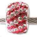 Authentic Biagi Swarovski Crystal Bead Hot Pink and Clear fits Pandora