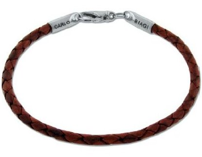 Biagi brown leather bracelet.jpeg