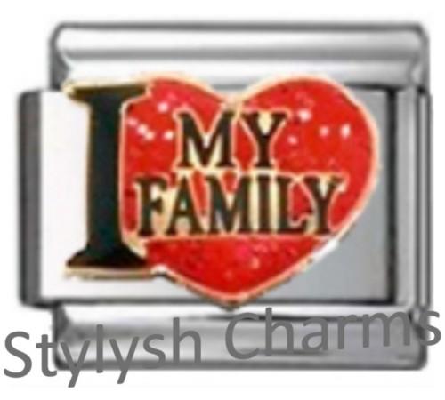 Italian Charm I LOVE MY FAMILY Enamel Charm FA187