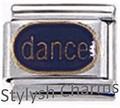 DANCE for DANCER Enamel Italian Charm 9mm Link - 1x MD040 Single Bracelet Link