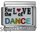 DANCE FOR THE LOVE OF Enamel Italian Charm 9mm Link-1x MD047 Sgle Bracelet Link