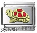 AN012 Italian Charm TURTLE REPTILE Enamel Charm