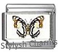 BI040 Italian Charm BUTTERFLY INSECT Photo Charm