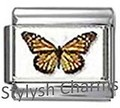 BI045 Italian Charm BUTTERFLY INSECT Photo Charm