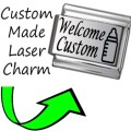 CUSTOM MADE BABY WELCOME Engraved Italian Charm 9mm-1xCP007 Single Bracelet Link