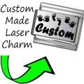 CUSTOM MADE BABY NAME Engraved Italian Charm 9mm - 1x CP013 Single Bracelet Link