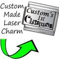 CUSTOM MADE BABY 1ST CHRISTMAS Italian Charm 9mm - 1x CP023 Single Bracelet Link