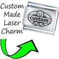 CUSTOM MADE BABY NAME Engraved Italian Charm 9mm - 1x CP046 Single Bracelet Link