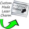 CUSTOM MADE CHRISTMAS Engraved Italian Charm 9mm - 1x CP047 Single Bracelet Link