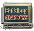 DANCE EAT SLEEP DANCE MUSIC MELODY Enamel Italian Charm 9mm - 1 x MD012 Link