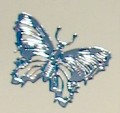 Silver Butterfly Stickers for Scrapbooking