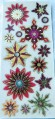 3 Dimensional Gold Star Xmas Snow Scrapbooking Card Making