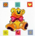 Teddy Bear Nursery Rub On Transfer Permanent for Glass Ceramic Tiles