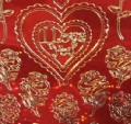 Red Love Heart Stickers Holographic