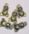Gold Teddy Bear Favour Charms
