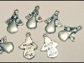 25 Silver Angel Charms Favours Decoration