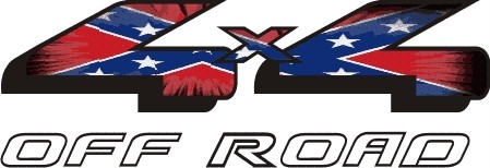 Ford Rebel Flag http://shoplakeland.com/Rebel-Flag-4x4-decal-Ford-4-x-4-Off-Road-sticker-P329478.aspx