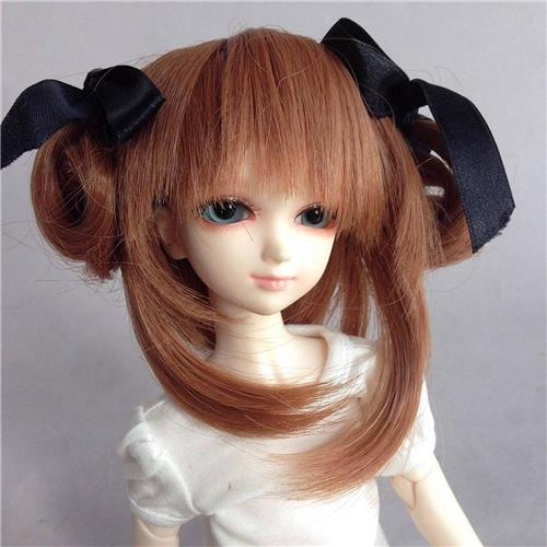 76 Brown Straight Wig Ponytail For 1 6 Sd Dod Luts Bjd