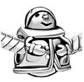 Snowman Bead