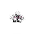 Pink Crystal Crown Bead