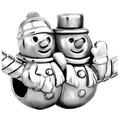 Snowmen Couple Bead