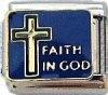 Faith In God 9mm Italian Charm