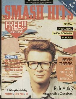 Smash hits magazine sep 21st 1988 rick astley sinitta for Songs from 1988 uk