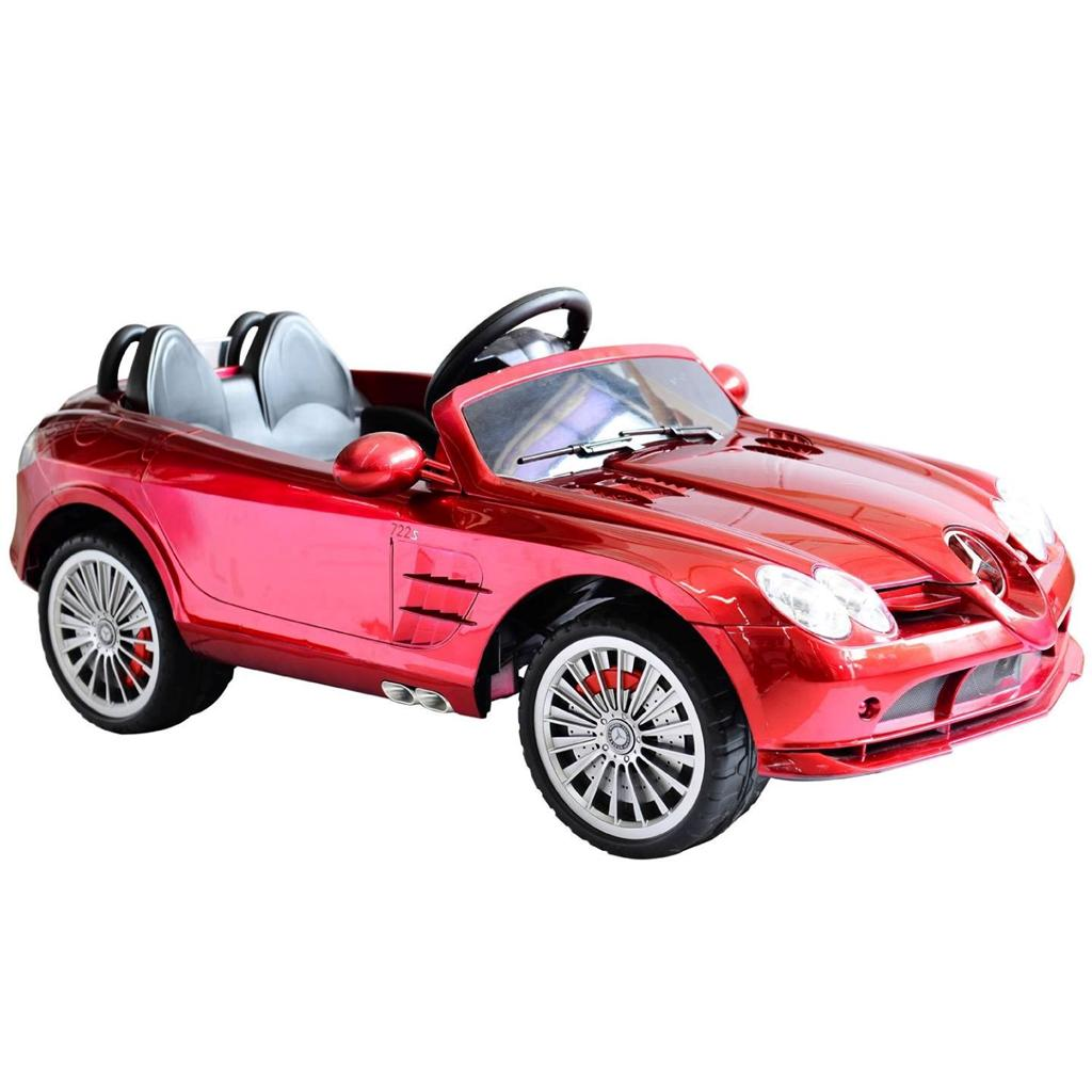 Kids authentic mercedes slr722 mclaren ride on remote for Mercedes benz kids car