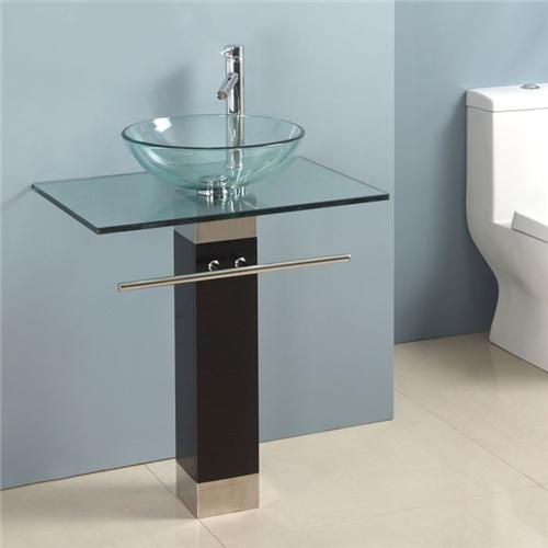 New Glass Bowl Vessel Sink Bathroom Vanity towel rack ...