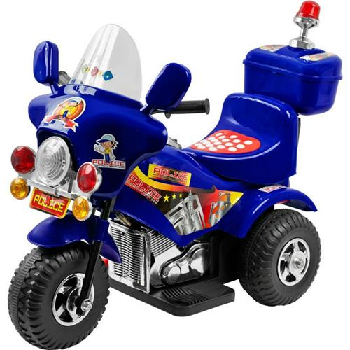 Police Chopper Kids Electric Ride on Motorcycle Power 3 ...